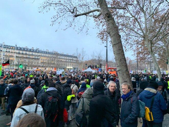 Place de la République, vers 17h00. © T. G.