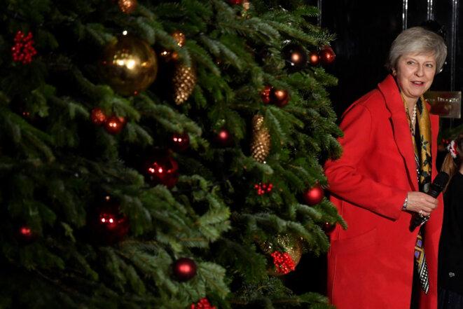 Theresa May, le 6 décembre 2018 à Londres. © Reuters/Toby Melville