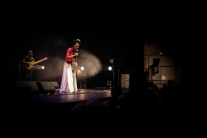 Fatoumata Diawara en concert le 7 décembre 2018 au Théâtre de Sartrouville (Yvelines). © Florian Dacheux