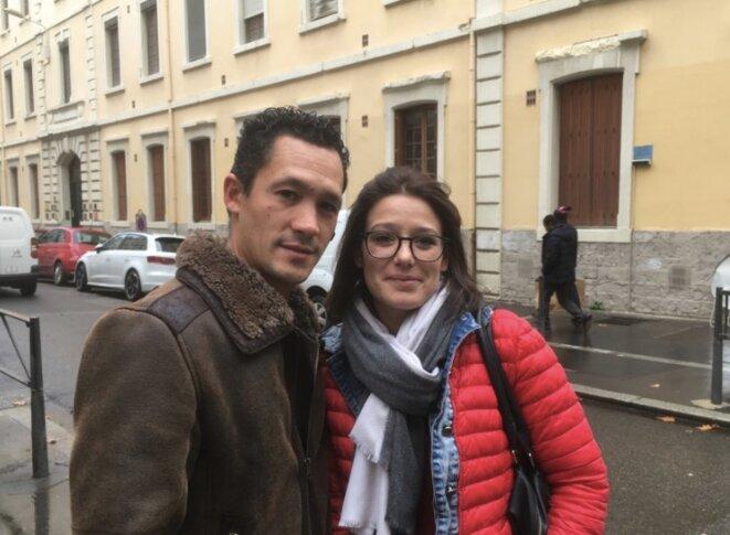 Cédric et Sandra à Lyon. © LD