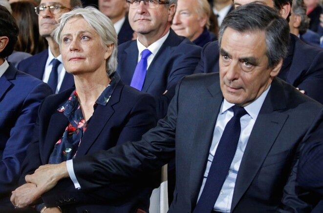 Penelope et François Fillon pendant la campagne présidentielle de 2017. © Reuters