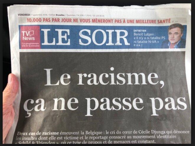 """La Une du """"Soir"""", le 7 septembre 2018"""
