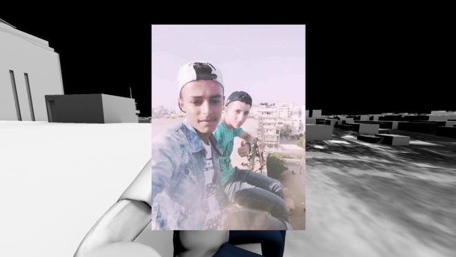 La dernière image d'Amir a-Nimrah et de Luai Kahil vivants. © Forensic Architecture