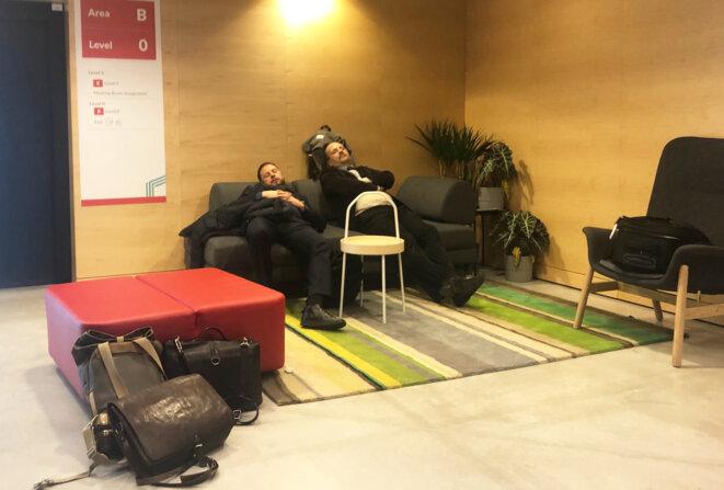 Dans les couloirs de la COP, samedi 15 décembre. © CG