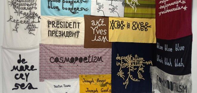 """Babi Badalov, vue de l'exposition """"Soft power"""", commissariat de Julie Crenn, Le Transpalette, centre d'art contemporain, Bourges, 2018 © Dorian Degoutte"""