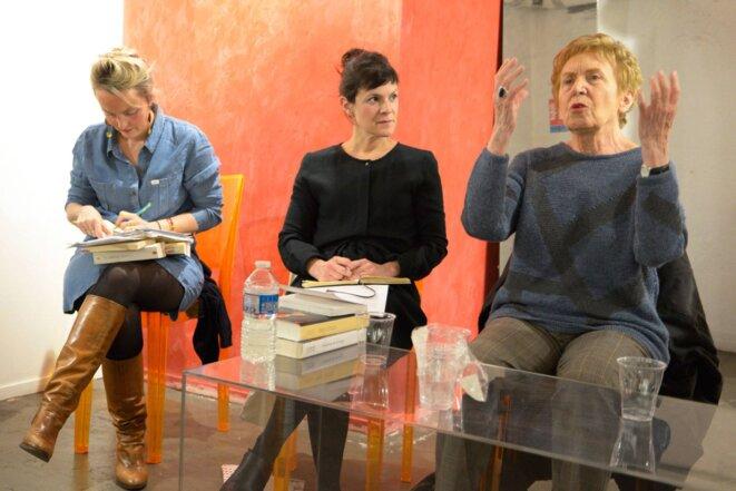 Marine Jubin, Anne Delaplace et Michelle Perrot, Paris 14 décembre 2018 © Gilles Walusinski