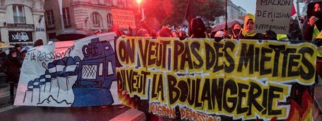 Manifestation des Gilets Jaunes à Nantes le 15 décembre 2018 © AFP