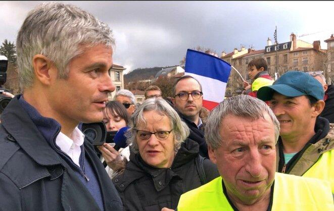 Laurent Wauquiez en Puy-en-Velay. © Cuenta de Twitter de Laurent Wauquiez
