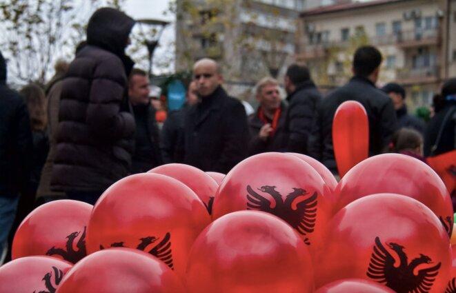 Sur le marché de Pristina, au Kosovo. © Laurent Geslin