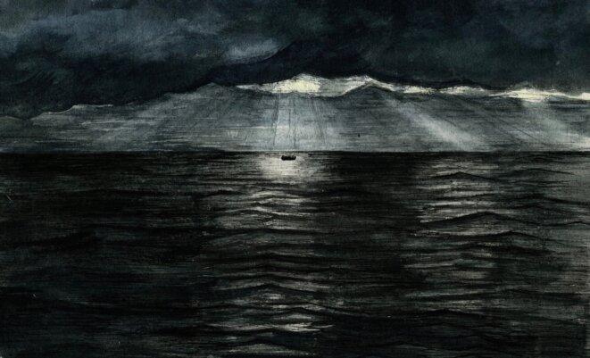 Traversée de la Manche en bateau © Elisa Perrigueur