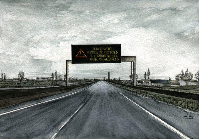 A Calais, plusieurs personnes sont mortes sur l'A16, en tentant le passage au Royaume-Uni © Elisa Perrigueur