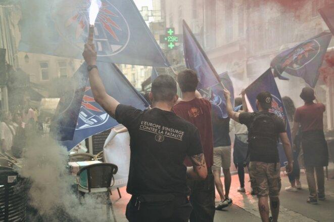 Le Bastion social lors d'un rassemblement en juillet 2018. © Page Facebook du Bastion social