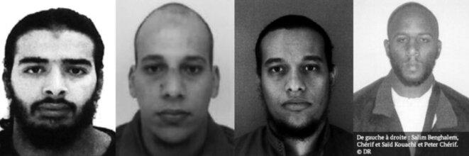 Salim Benghalem, Chérif Kouachi, Saïd Kouachi et Peter Cherif. © DR