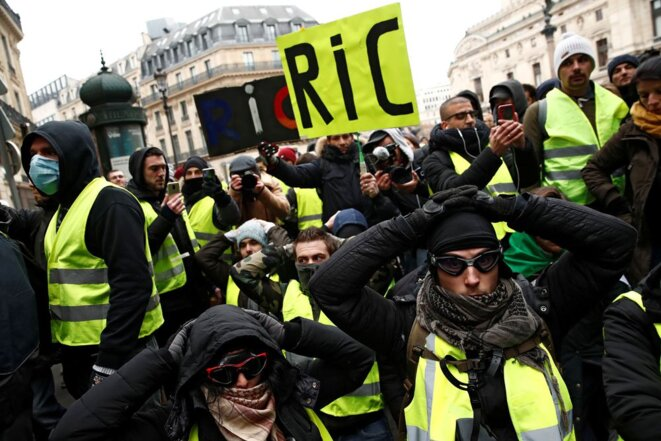 A yellow vest protest in Paris, December 15th 2018, calling for citizens initiative referendums. © Reuters