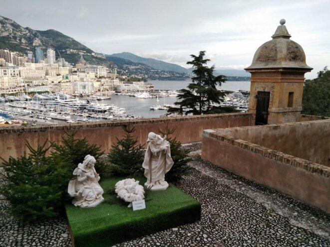 Nativité Italienne avec vue sur le port de Monaco en arrière-plan © Didier CODANI