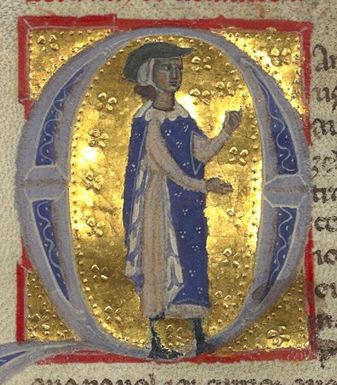 © BnF ms. 12473 fol. 15v - Bernart de Ventadour, [Public domain], via Wikimedia Commons
