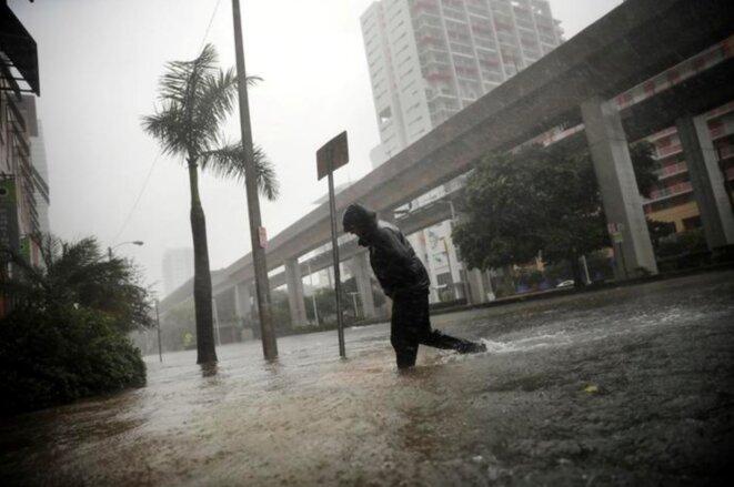 Ouragan Irma à Miami (Floride), le 10 septembre 2017. © Reuters