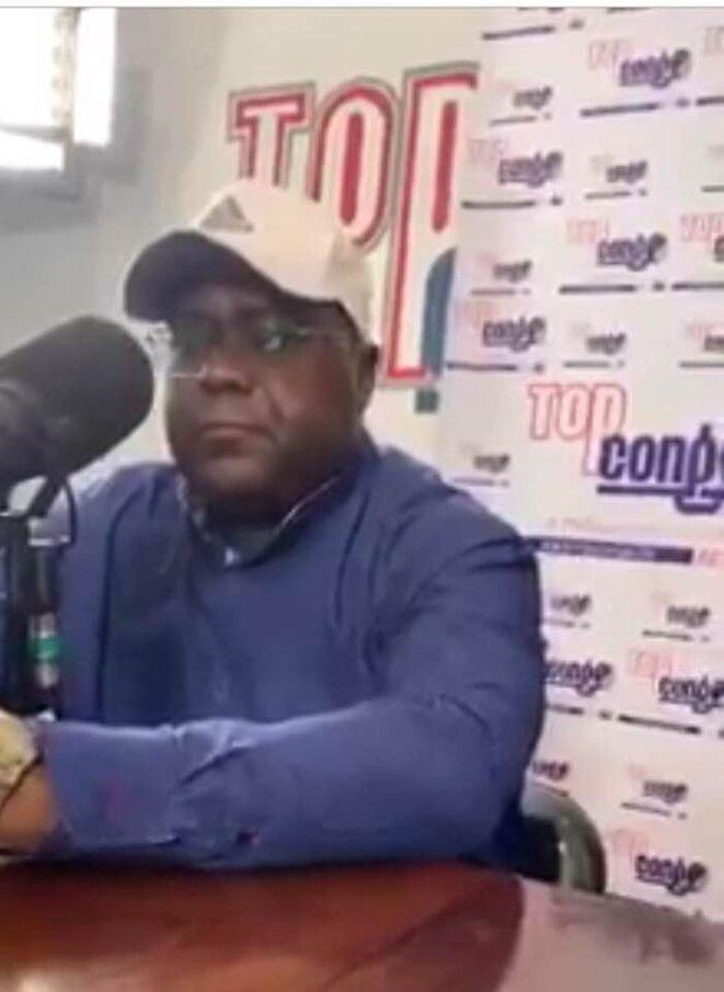 Félix Tshisekedi, capture d'écran de son émission sur TopCongo