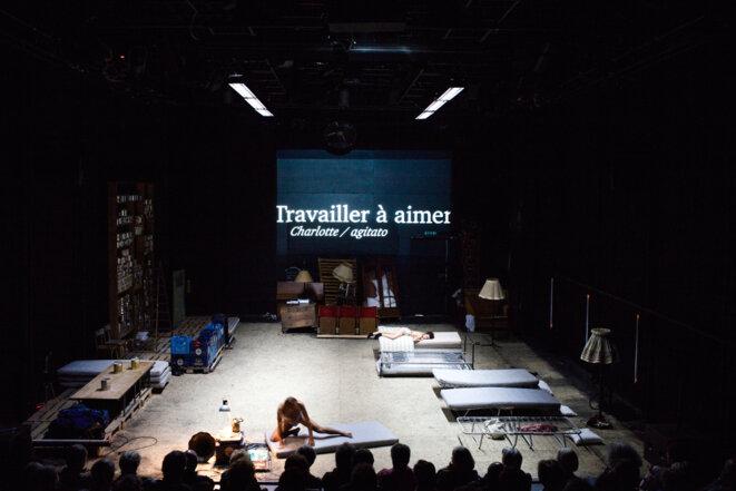 Sèverine Chavrier, «Les palmiers sauvages», librement adapté du roman de William Faulkner, création 2014, Théâtre Vidy Lausanne