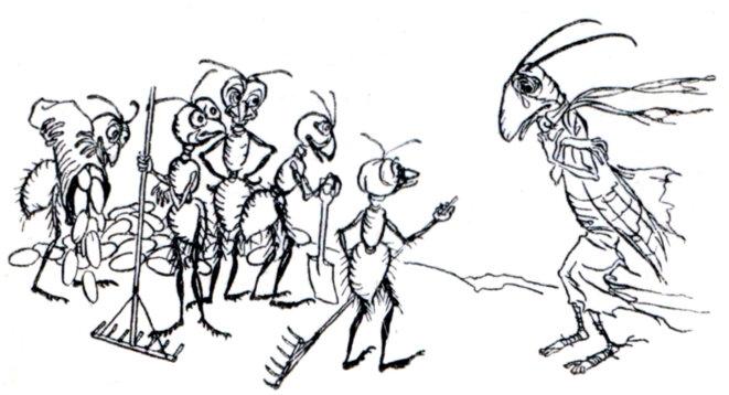 La cigale et les fourmis