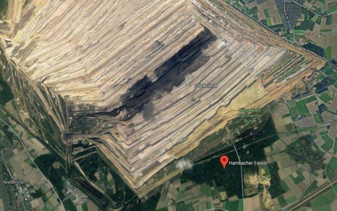 Hambacher Forst image satellite