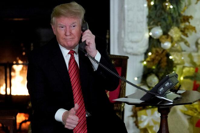 Donald Trump, le 25 décembre, à la Maison Blanche © Reuters