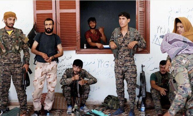 Combattants kurdes du YPG à Rakka, en Syrie, lors de l'été 2018. © Reuters