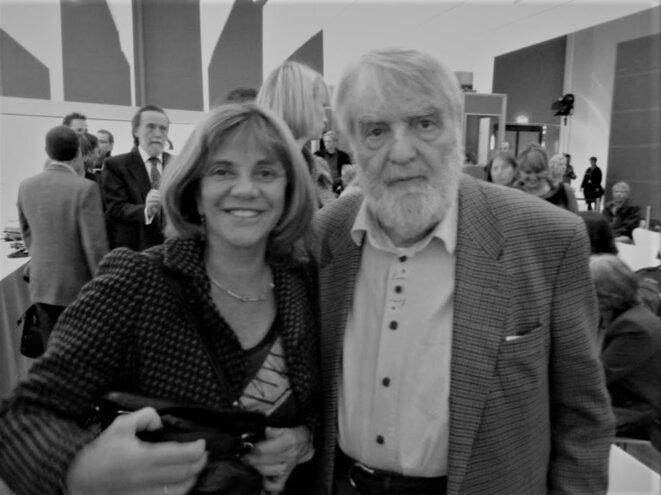 Elsa Osorio et Osvaldo Bayer à la Foire du livre de Francfort, 2010 © Carlos Schmerkin