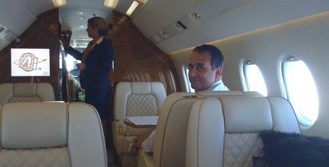 Marwan Lahoud, qui a été jusqu'en février 2017 le numéro 2 d'Airbus Group en charge des ventes et de la stratégie, lors d'un déplacement au Kazakhstan en compagnie d'un intermédiaire. © Mediapart.