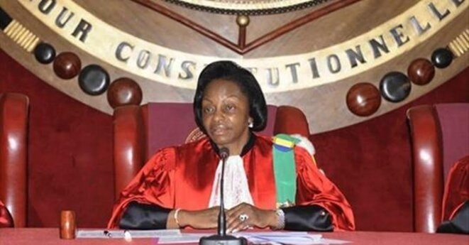 Cour constitutionnelle du Gabon, la Présidente, Mme Marie Madeleine Mborantsuo