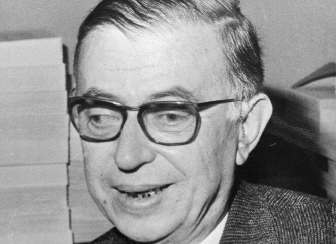 Jean-Paul Sartre en 1965. © DR