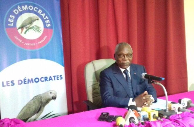 """Le parti """"Les Démocrates (LD""""), Président,  Guy Nzouba Ndama,"""