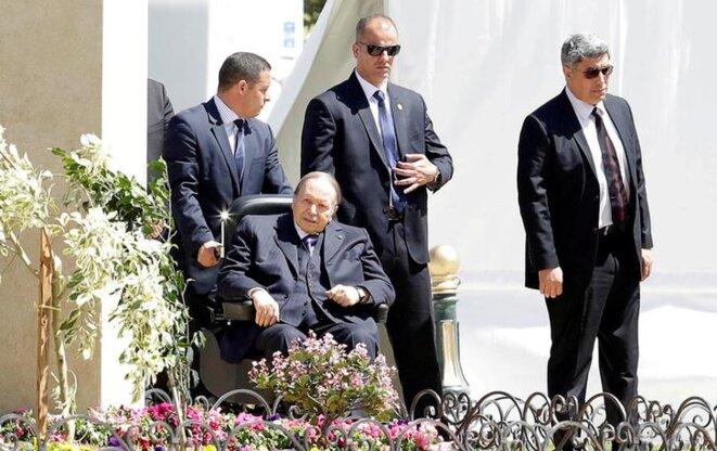 Abdelaziz Bouteflika, le 3 décembre, à Alger. © Reuters