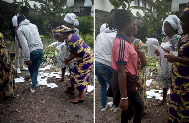A Goma, à l'Institut des Volcans, on cherche son nom sur les listes électorales dans les poubelles © Gloire Wanzavalere - DR