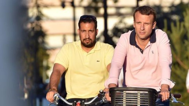 Macron et Benalla © Facebook
