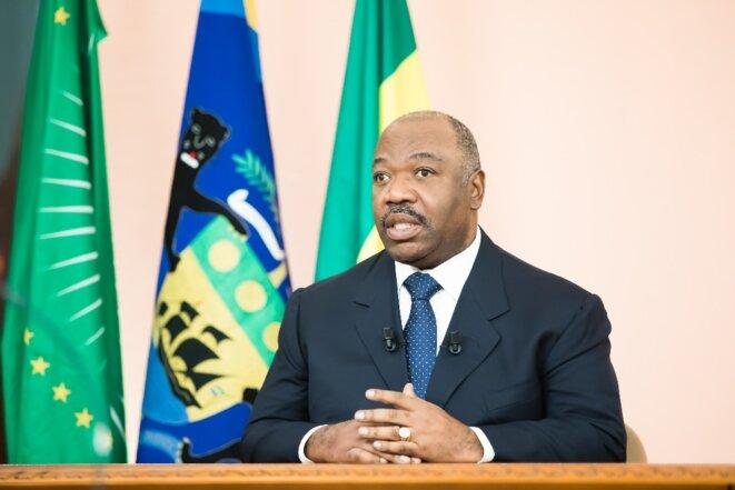 31 Décembre 2018, image prise lors du discours à la Nation du Président de la République, Chef de l'Etat, S.E. Ali Bongo Ondimba.