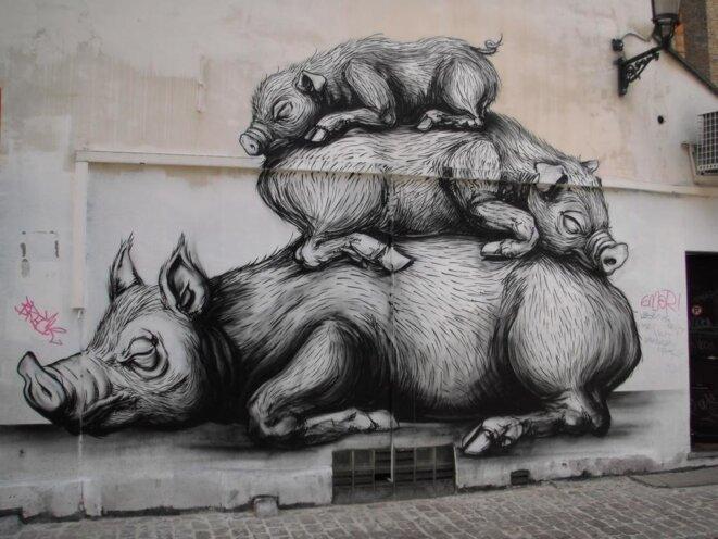 Graffiti à Bruxelles. DR