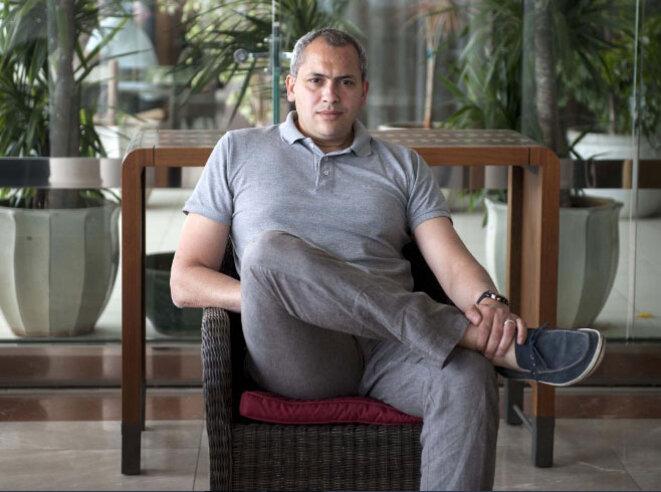 """Mabrouk AIB, membre du Think Tank """"Nabni"""" © Louiza AMMI"""