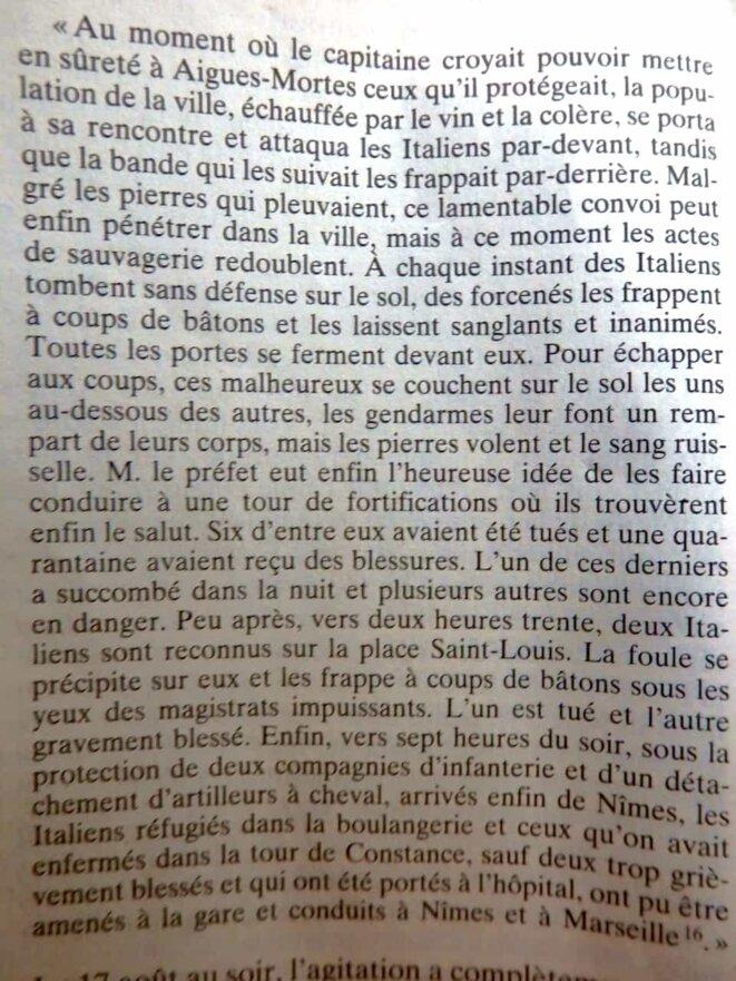 rapport du 22 août du procureur général de Nîmes au garde des Sceaux