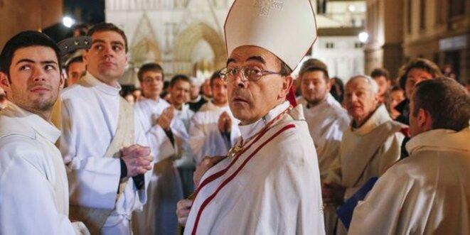 Le cardinal Barbarin, le 8 décembre 2015 à Lyon. © Reuters