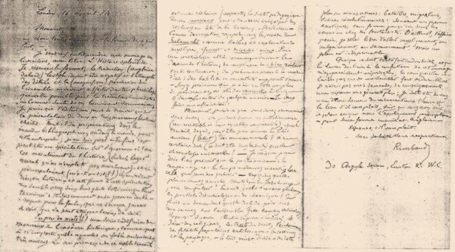 Paradoxal silence autour de la découverte d'une lettre de Rimbaud
