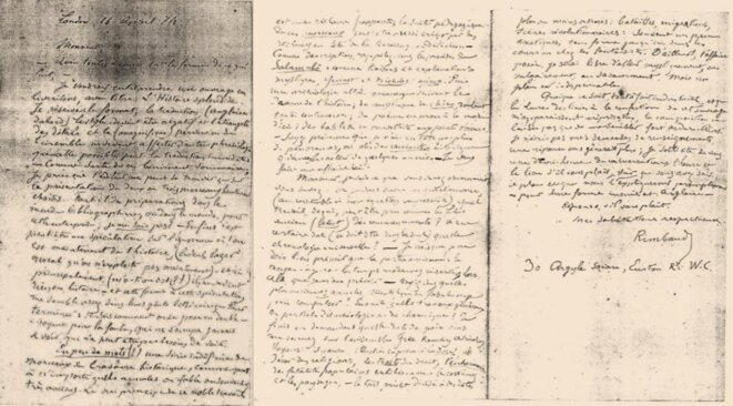 Lettre inédite d'Arthur Rimbaud, 16 avril 1874 ©DR