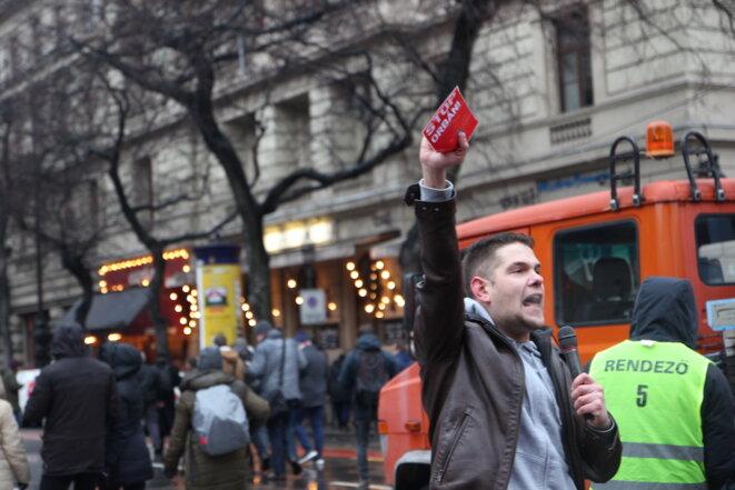 Dans les rues de Budapest, le 5 janvier 2019. © Ludovic Lepeltier-Kutasi / Le Courrier d'Europe centrale
