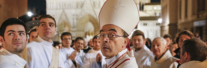 Le cardinal Barbarin en décembre 2015 à Lyon. © Reuters