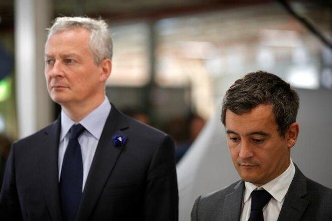 Bruno Le Maire et Gérald Darmanin en décembre. © Reuters