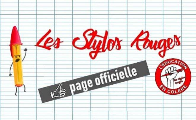 La bannière de la page Facebook des « stylos rouges ». © DR
