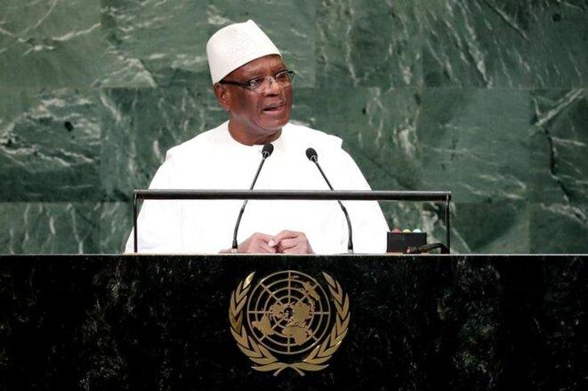 Ibrahim Boubacar Keïta, le 26 septembre 2018 à New York. © Reuters