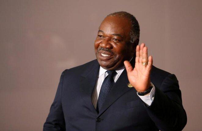 Ali Bongo Ondimba le 27 juillet à Johannesburg (Afrique du Sud). © Reuters