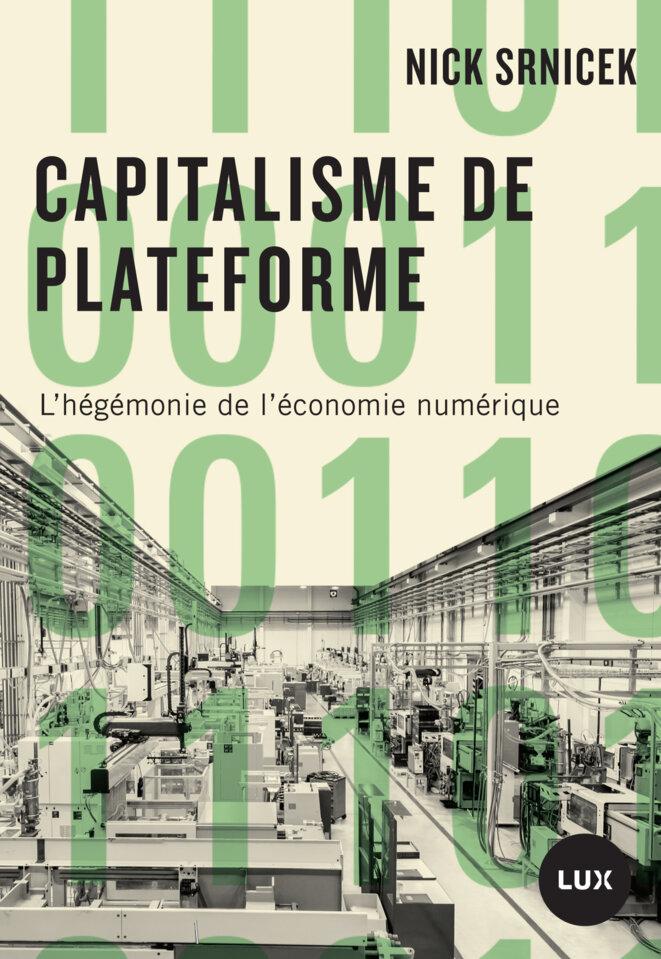 Couverture du livre « Capitalisme de plateforme » de Nick Srnicek.