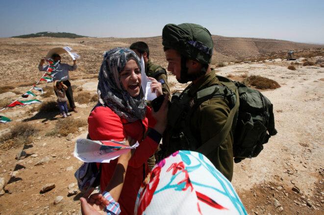Le refus du débat sur l'occupation des territoires palestiniens (ici à Hebron) est la véritable raison de la restriction des libertés fondamentales en Israël. © Reuters